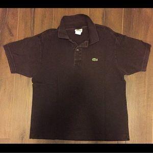 Lacoste Brown Pique Polo (Medium, Size 5)